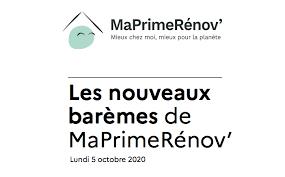 Les nouveaux barèmes de MaPrimeRénov'