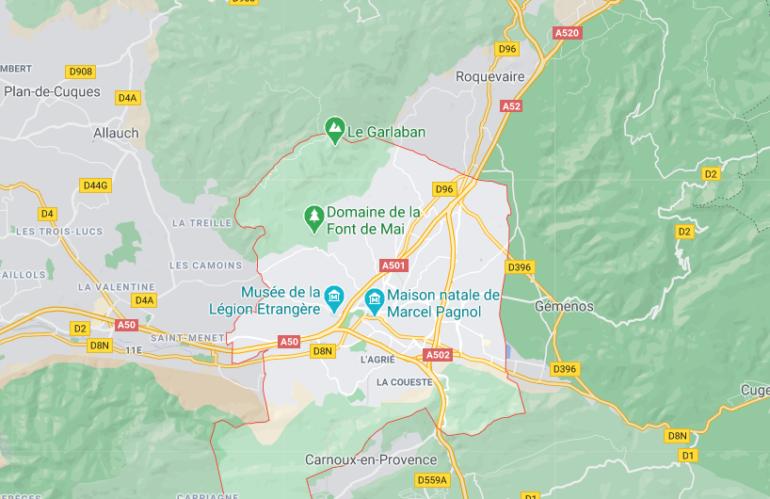 plan - pays d'Aubagne- Chaix Immobilier